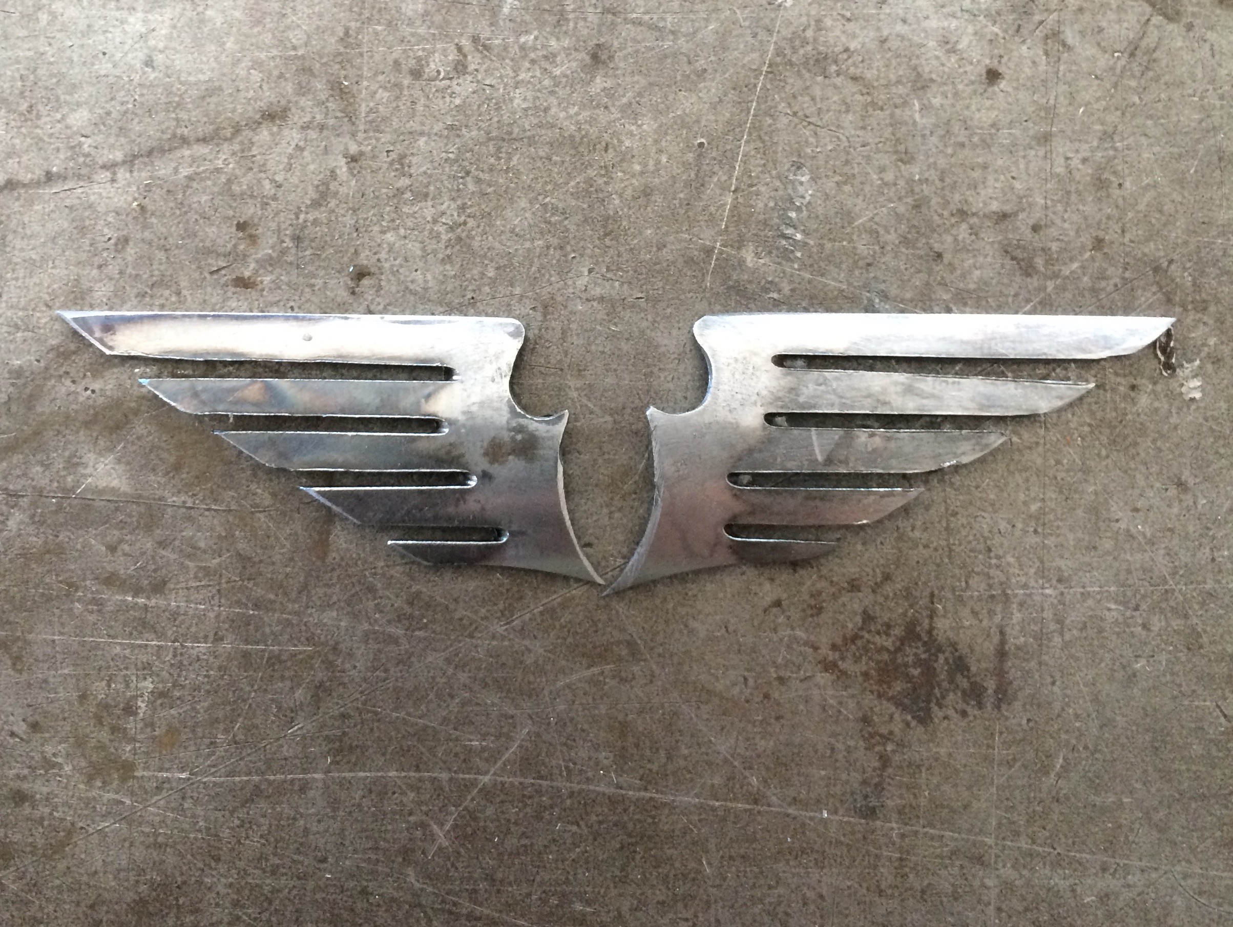 Winged Victory, lugs, steel, brazing, hand cut